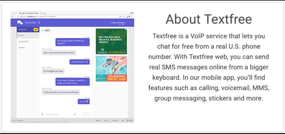 موقع Textfree للحصول على رقم امريكي شخصي