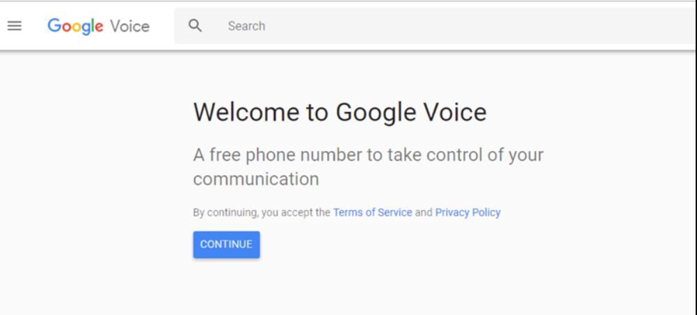 انشاء حساب  على  Google Voice