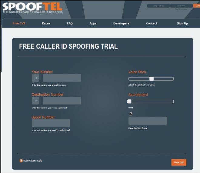 موقع spooftel مكالمات مجانية لأي دولة