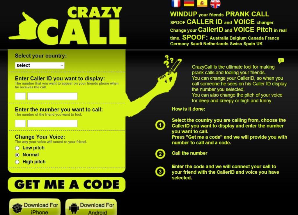 تطبيق crazycall لعمل مكالمات مزيفة و تغيير الصوت