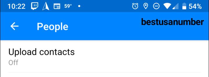 كيفية إلغاء مزامنة جهات الاتصال في الفيس بوك 2021 4